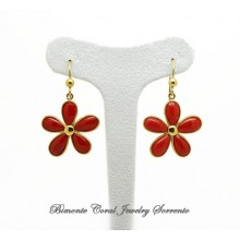 """Fiore"" Red Italian Coral Earrings"
