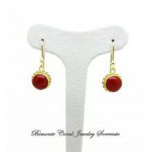 """Rondò"" Red Italian Coral Earrings"