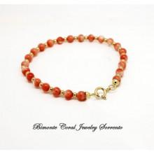 """Murielle's "" Pink Coral Bracelet"