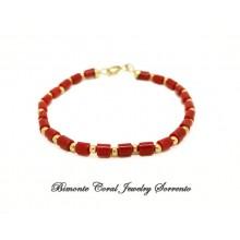 Red Italian Coral Bracelet