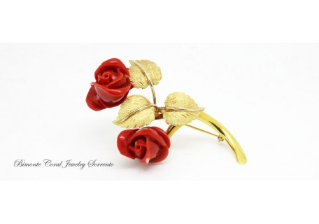 Roses Coral Brooch
