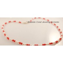 Coral and Pearls Necklace