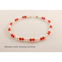 Coral and Pearls Bracelet
