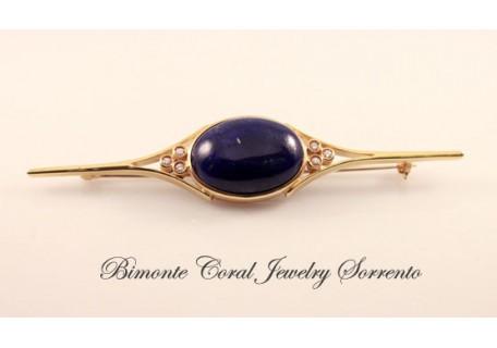 Decò Style Lapis Lazuli Brooch