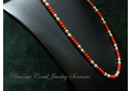 """""""White and Red"""" Coral Necklace"""