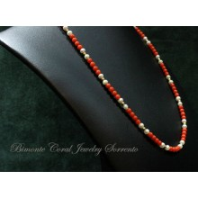 """White and Red"" Coral Necklace"