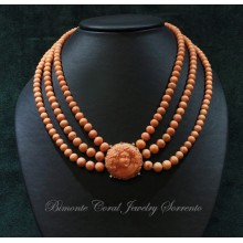 """Baccante"" Antique Sciacca Coral Necklace"