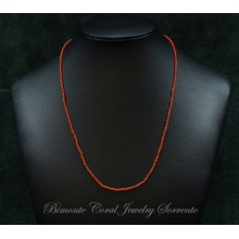"""""""Tiny"""" Red Italian Coral Stone Necklace"""