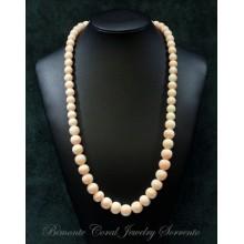 """""""Laccio Rosa"""" Coral Necklace"""