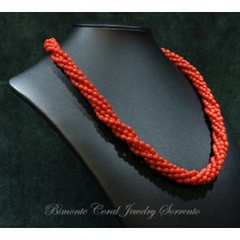 """""""Olivette-Torchon"""" Red Italian coral necklace"""